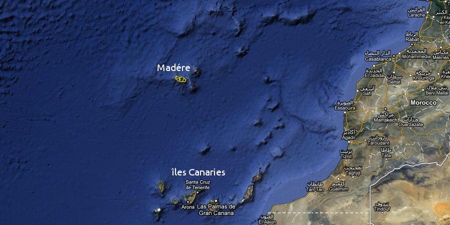 madère carte du monde | Arts et Voyages