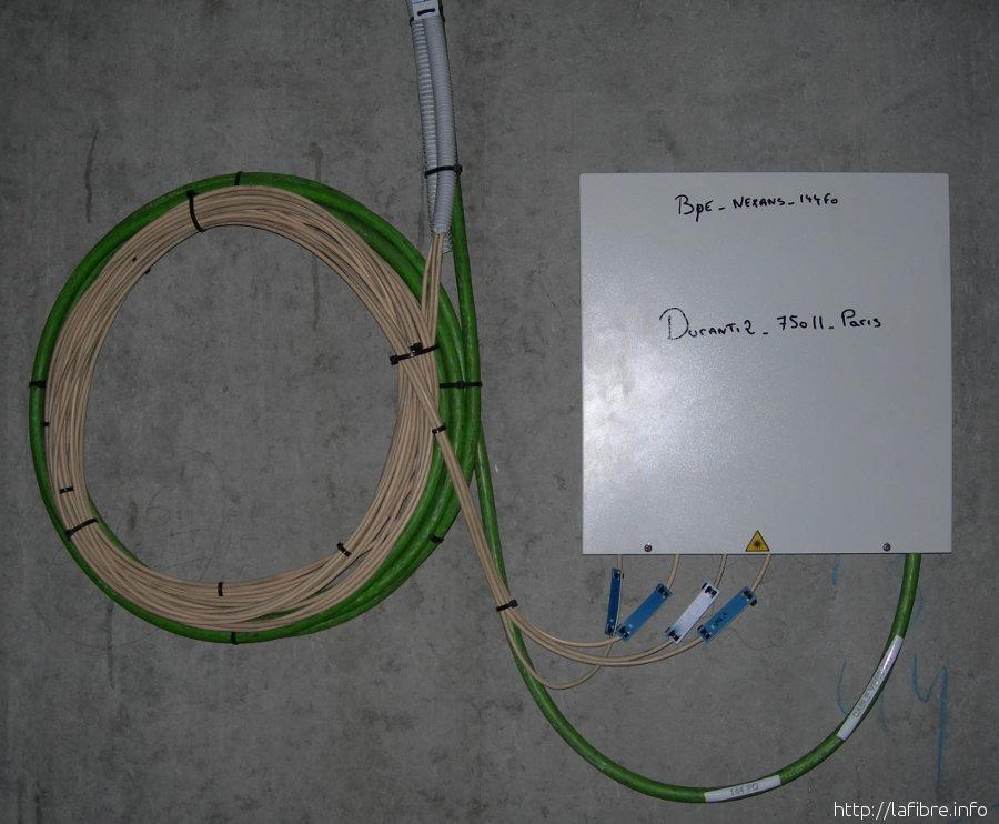 paris 11 : photos d'une installation sfr fibre optique gpon