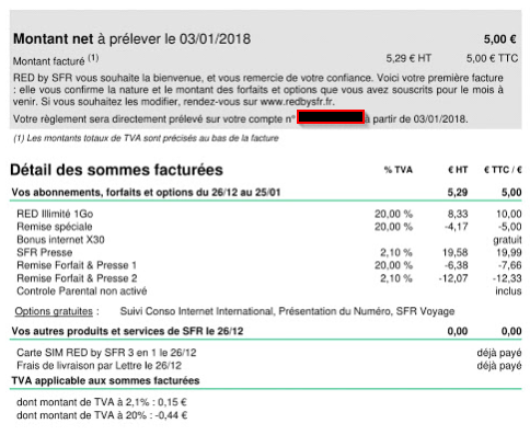 Red By Sfr Tva Negative Sur Le Taux D Imposition Global Du Forfait 5