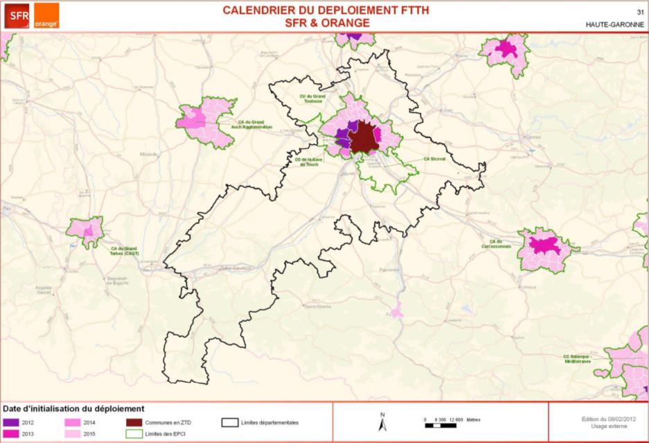 Carte Du Deploiement Fibre Optique Dans La Haute Garonne