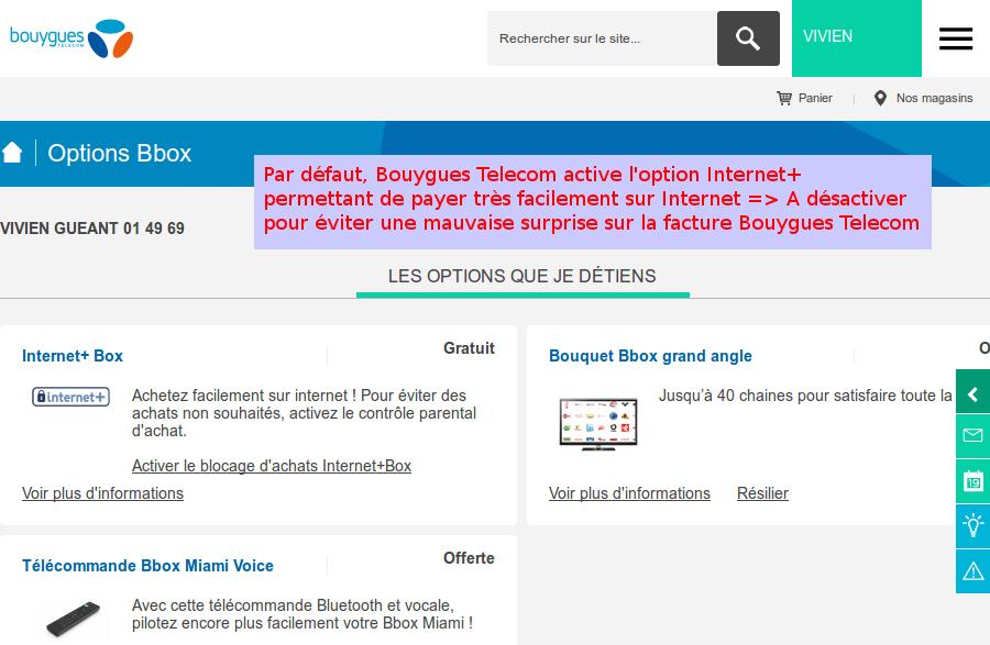 bbox fibre internet service active de force
