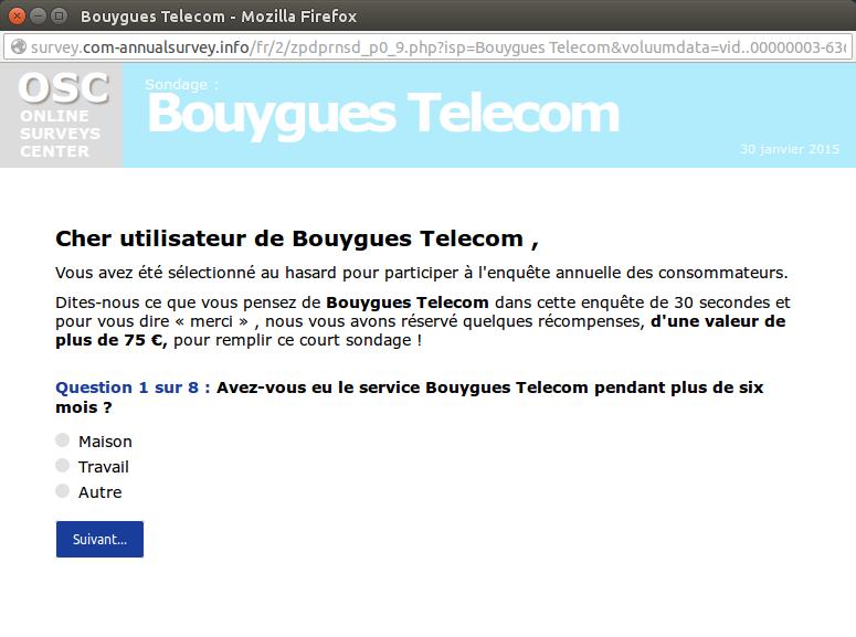 escroquerie 7 telecom