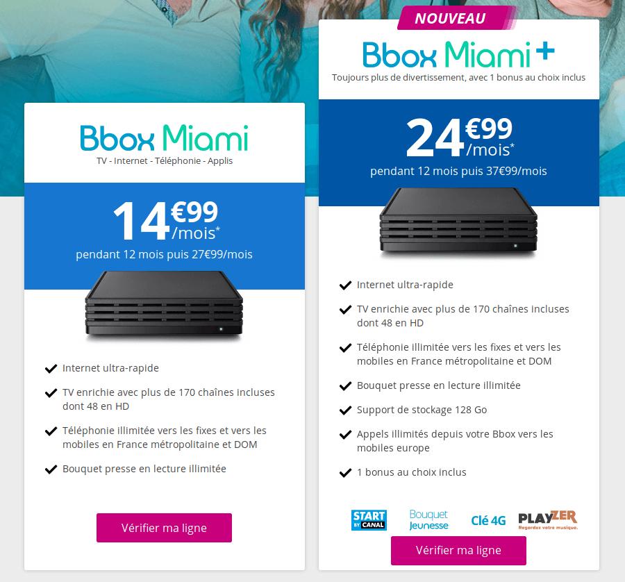 nouvelle offre box miami partir de fin ao t. Black Bedroom Furniture Sets. Home Design Ideas