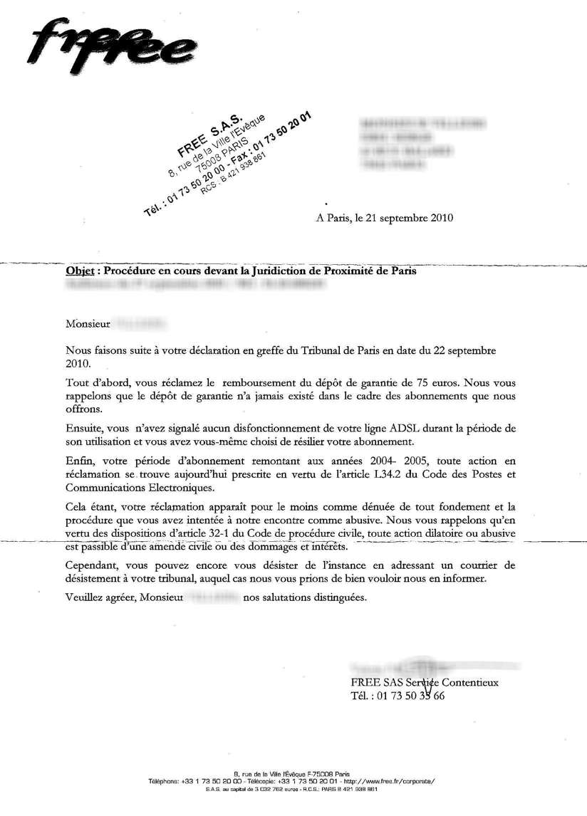 lettre de restitution de caution