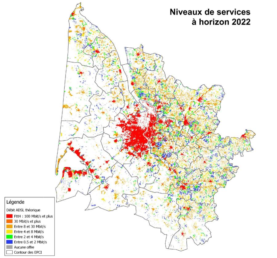 Carte Fibre Bordeaux.Carte Du Deploiement Fibre Optique En Gironde