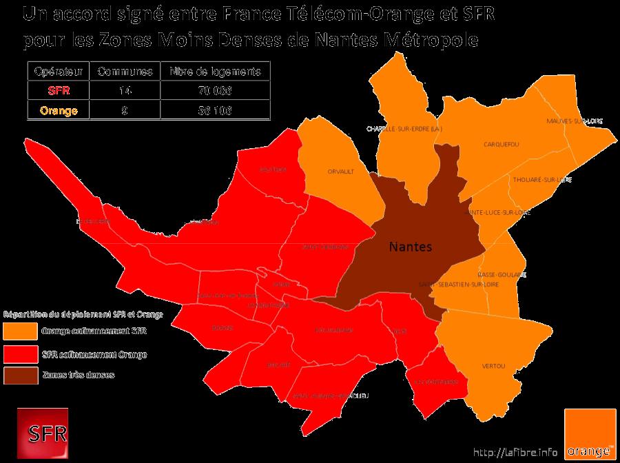 Carte Fibre Orange Bretagne.Carte Du Deploiement Fibre Optique Dans La Loire Atlantique