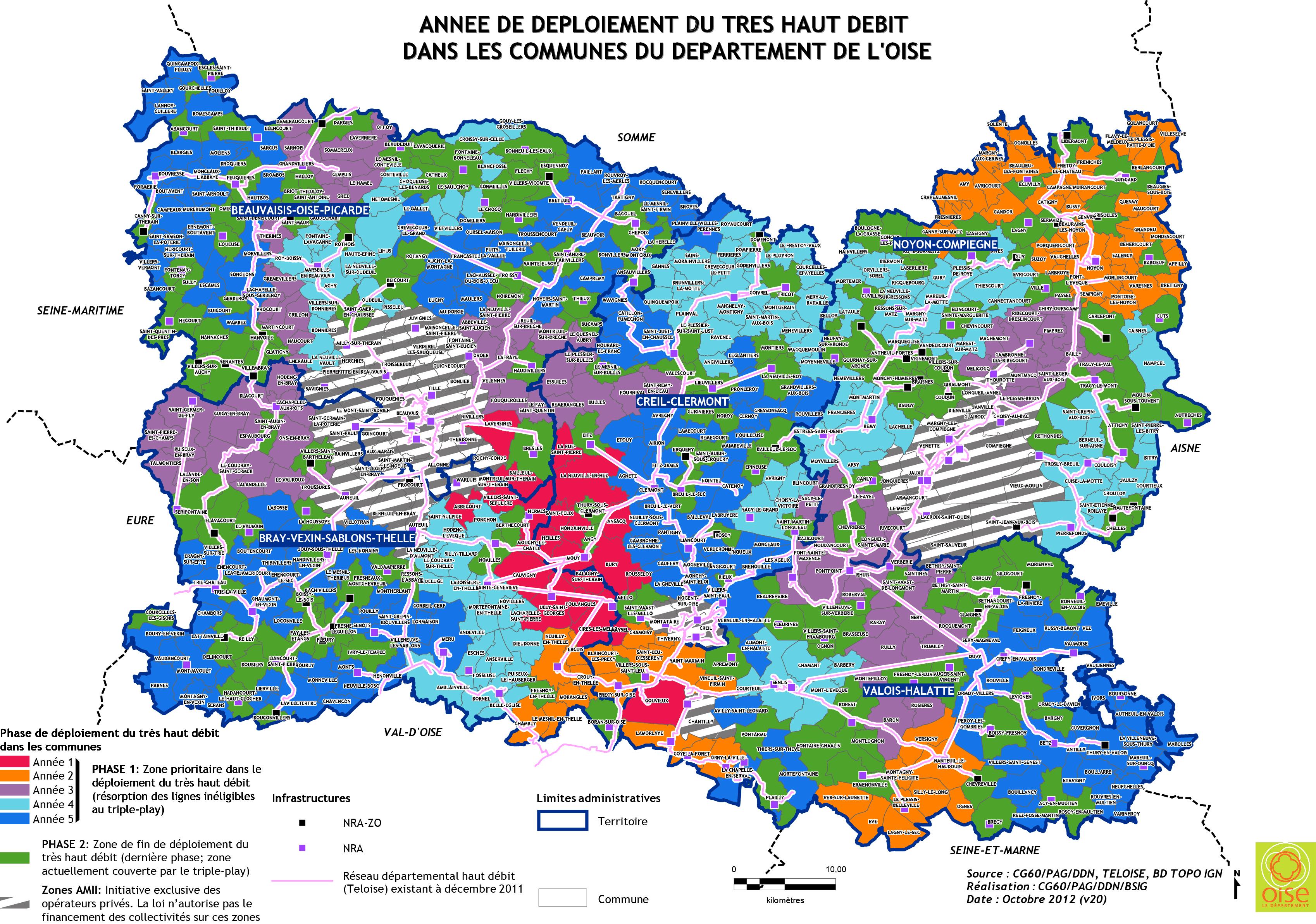 Carte du d ploiement fibre optique dans l 39 oise - Carte fibre optique france ...