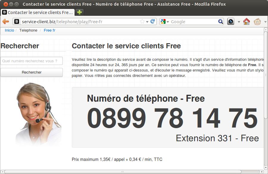 Les Arnaques Au N De Service Client Surtaxe Sur Google
