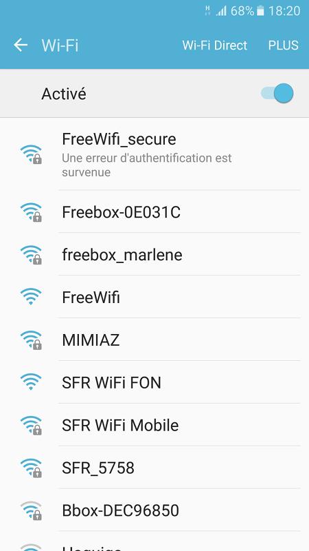 free wifi une erreur d authentification est survenue
