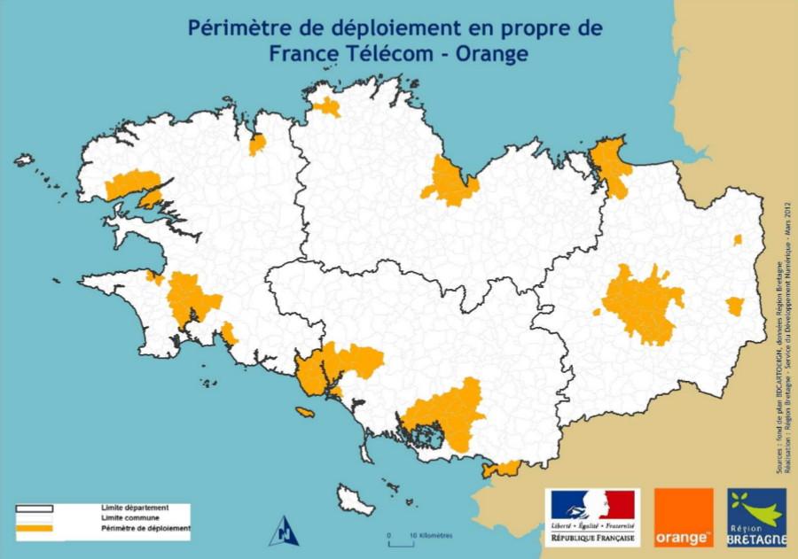 Carte Fibre Orange Bretagne.Orange Deploie Le Ftth Avec La Region Bretagne