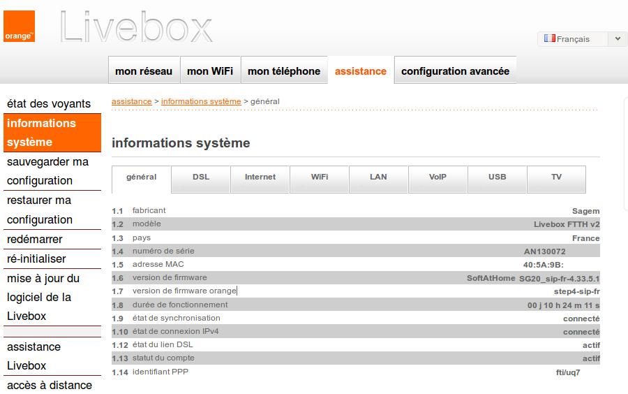 logiciel livebox 2 sagem