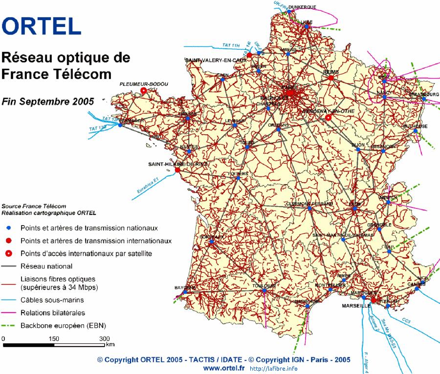 Fibre optique free entre en conflit avec france telecom - Carte fibre optique france ...