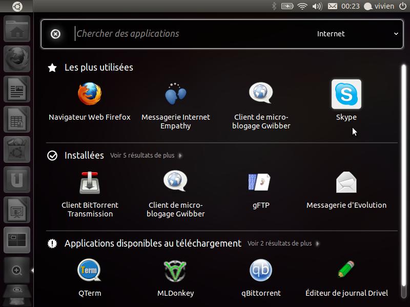 polices de liste linux installées